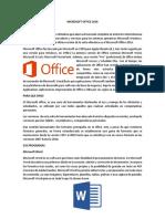 Microsoft Office 2016 y Sus Programas