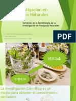 La Investigación en Productos Naturales