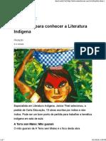 (Web) Carta Capital. Dez Obras Para Conhecer a Literatura Indígena