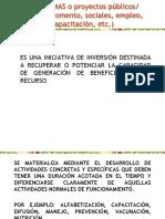 Programas Públicos y Sociales
