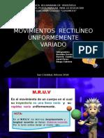 MRUV EXPOSICIÓN