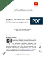 Tendências Atuais Da Pesquisa Em Escrita de Sinais No Brasil