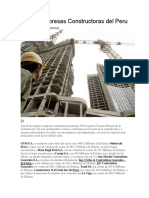 Top de Empresas Constructoras Del Peru