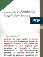 Biomas e Domínios Morfoclimáticos