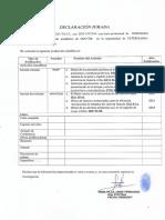 Declaracion Jurada de Investigacion 2017