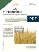 Micotoxinas en Los Alimentos y Los Hongos Que Producen.