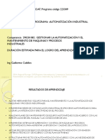 AUTOMATIZACION INDUSTRIAL GESTION DE MANTENIMIENTO C+P+M+P+V