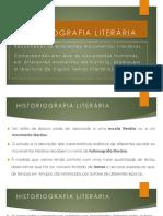 Historiografia literária