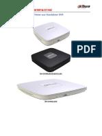 Dahua DVR 5104C-5408C-5116C Catalogo