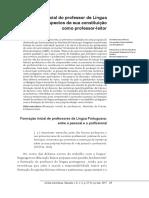 A Formacao Inicial Do Professor de Lingua Portuguesa