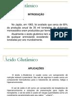 Ácido Glutâmico  Apresentação2006