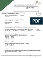 Examen Bimestral Aritmetica 5to-2018
