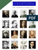 Centenário da República em Portugal - Presidentes da República desde 1910 até 2010 (1)