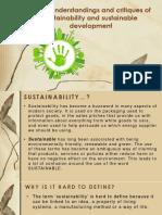 4.1.1 Sustainability