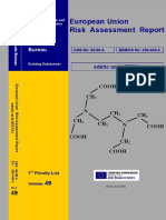 EDTA - European Union Risk Assessment Report