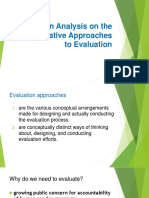 An Analysis on the Alternative Approaches to Evaluation Autosaved