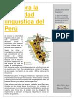 Descubra La Diversidad Lingüística Del Perú Columna Periodística NIXON