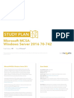 Study Plan Microsoft MCSA Windows Server 2016-70-742