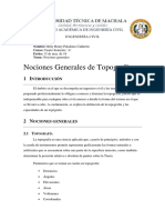 Resumen 1 - Nociones Generales de Topografía