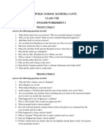 class-8 Army school holiday homework