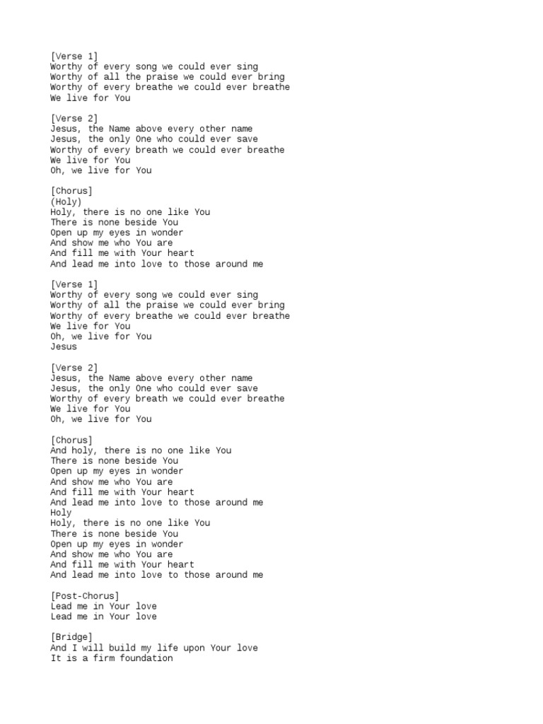 Build My Life Lyrics   Song Structure   Pop Songs