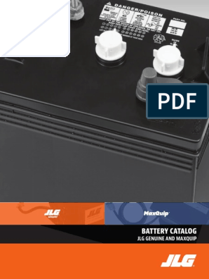 JLG Battery Catalog | Battery (Electricity) | Battery Charger