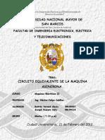 Informe v - Maquinas Electricas II - Circuito Equivalente de La Maquina Asincrona