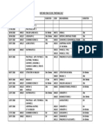 BSPZ 2018 O' Level Timetable