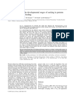 Characterization of the Developmental Stages of Sucking in Preterm