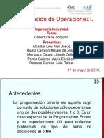 Cobertura de conjunto (Programación Entera y Binaria, Investigación de operaciones)