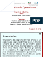 Programación Lineal Entera (Investigación de operaciones)