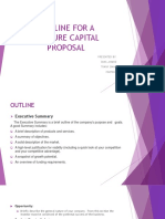 Outline for a Venture Capital Proposal