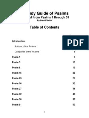 A Study Guide of Psalms | Psalms | Books Of Samuel