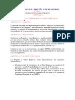 Ley General de La Pequeña y Micro Empresa