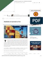 Modalidades de Importación en Perú - DIARIO DEL EXPORTADOR