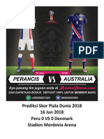 Prediksi Skor Piala Dunia 2018 16 Jun 2018 - Peru vs Denmark