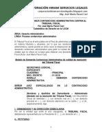 Modelo de Demanda Contencioso Administrativa Contra El Tribunal Fiscal - Autor José María Pacori Cari