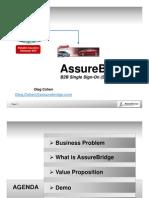 AssureBridge - B2B Partner Demands SSO - Marketing Presentation