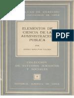 Elementos de Ciencia de La Administración Pública