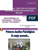 Salud Mental Emergencias y Desastres