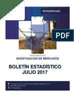 Boletin Estadisticas Turismo Julio 2017
