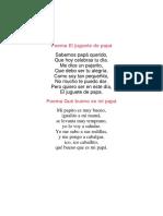 Poema El Juguete de Papá