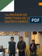 1 Reunion de Directivas de Lima Distrito Norte