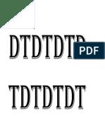 DTDTDTDTDDTDTDTD