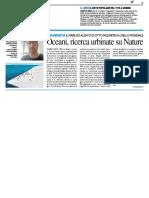 Oceani, ricerca urbinate su Nature - Il Resto del Carlino del 14 giugno 2018