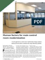 Human factors for main control room modernization