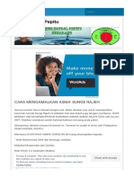 Cara Mengamalkan Asma' Sunge Rajeh Dewo Koprol Pepitu