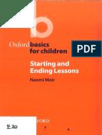 Oxford Basics for Chilren - Starting and Ending Lessons