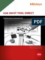 Mitutoyo - System Przenoszenia Danych USB Input Tool Direct USB-ITN - PRE1343 - 2014 EN