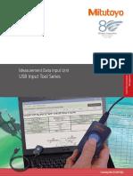Mitutoyo - System Przenoszenia Danych USB Input Tool Direct USB-ITN - E12007(2) - 2015 EN
